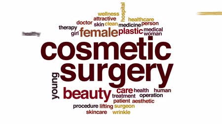 estético : Cosmetic surgery analysis animated word cloud.