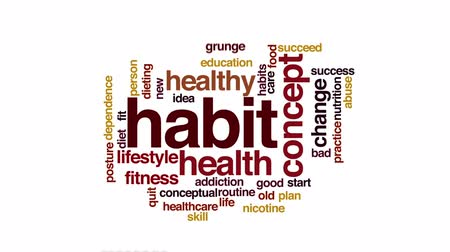 abuso : Habit animated word cloud.