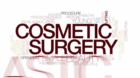 estético : Cosmetic surgery animated word cloud. Kinetic typography.