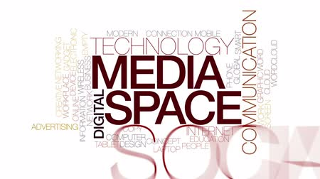 slova : Media space food animated word cloud. Kinetic typography.