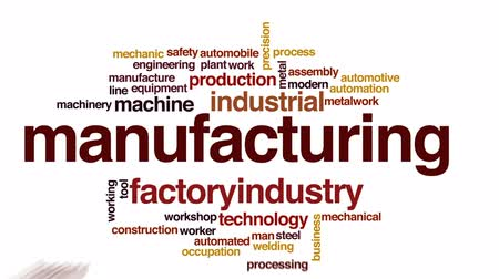soldagem : Manufacturing animated word cloud, text design animation.