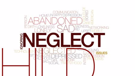 neglected : Neglect animated word cloud, text design animation. Kinetic typography.