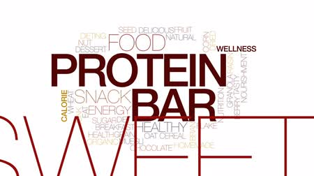otruby : Protein bar animated word cloud, text design animation. Kinetic typography.