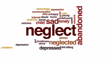 neglected : Neglect animated word cloud, text design animation.