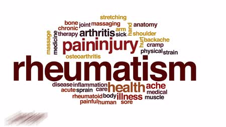 osteoarthritis : Rheumatism animated word cloud, text design animation.