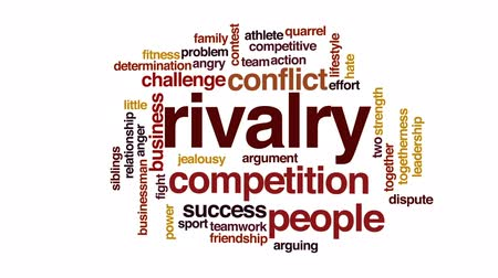 rywalizacja : Rivalry animated word cloud, text design animation.