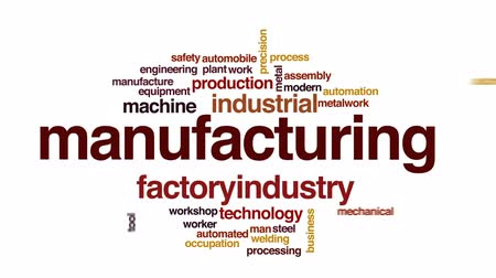 automatyka : Manufacturing animated word cloud, text design animation.