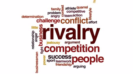 disputa : Rivalry animated word cloud, text design animation.