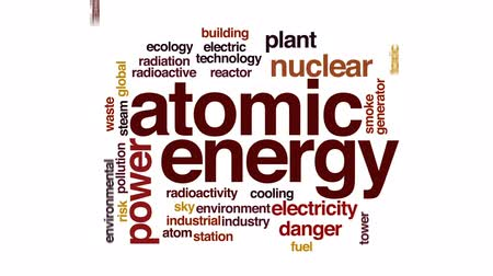 reactor : Atomic energy animated word cloud, text design animation. Stock Footage