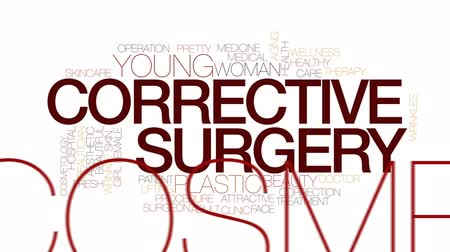 estético : Corrective surgery animated word cloud, text design animation. Kinetic typography.
