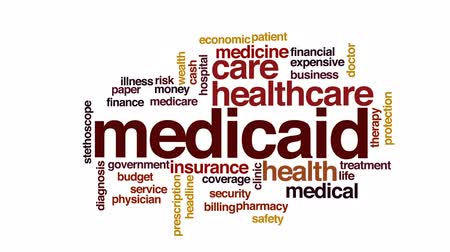 醫療保健 : Medicaid animated word cloud, text design animation. 影像素材