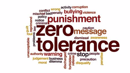 trest : Zero tolerance animated word cloud, text design animation. Dostupné videozáznamy