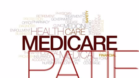 enrollment : Medicare animated word cloud, text design animation. Kinetic typography.
