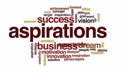 aspire : Aspirations animated word cloud, text design animation.