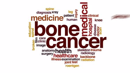 prova : Bone cancer animated word cloud, text design animation. Stock Footage