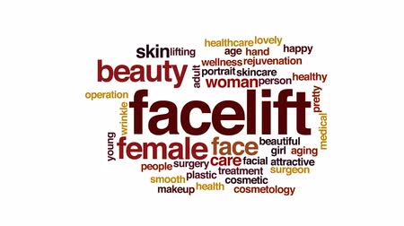 idade média : Facelift animated word cloud, text design animation.