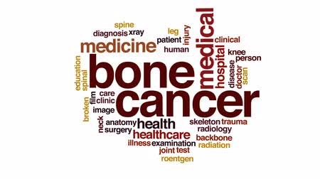 kolano : Bone cancer animated word cloud, text design animation. Wideo