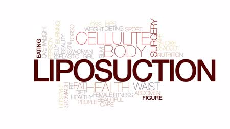 fat burning : Liposuction animated word cloud, text design animation. Kinetic typography.