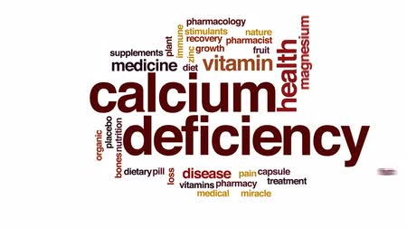 çinko : Calcium defficiency animated word cloud, text design animation. Stok Video