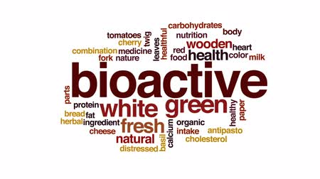 wapń : Bioactive animated word cloud, text design animation.