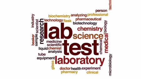 analisar : Lab test animated word cloud, text design animation.