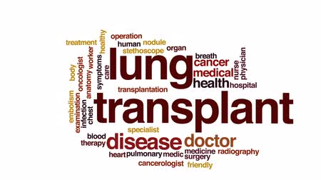 respiração : Lung transplant animated word cloud, text design animation. Vídeos