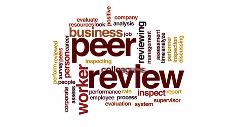 supervisor : Peer review animated word cloud, text design animation.