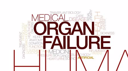 adomány : Organ failure animated word cloud, text design animation. Kinetic typography.