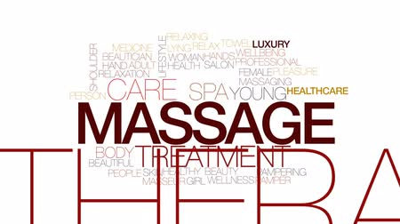 mimos : Massage animated word cloud, text design animation. Kinetic typography. Stock Footage
