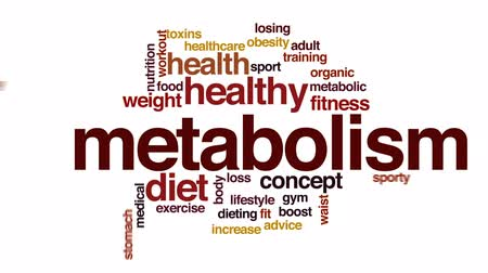 tłuszcz : Metabolism animated word cloud, text design animation.