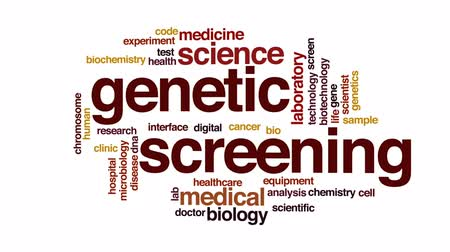 хромосома : Genetic screening animated word cloud, text design animation. Стоковые видеозаписи