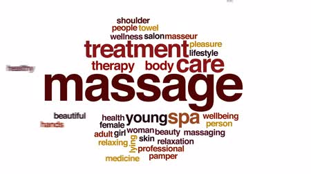 mimos : Massage animated word cloud, text design animation. Stock Footage