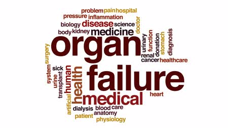 adomány : Organ failure animated word cloud, text design animation.