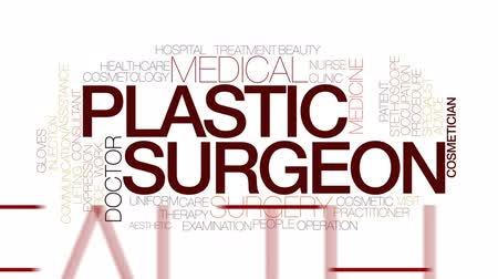 estético : Plastic surgeon animated word cloud, text design animation. Kinetic typography.