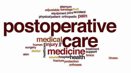 rana : Postoperative care animated word cloud, text design animation. Wideo