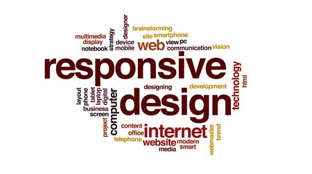 projetado : Responsive design animated word cloud, text design animation.