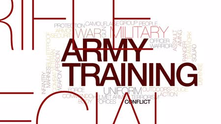 veterano : Army training animated word cloud, text design animation. Kinetic typography.