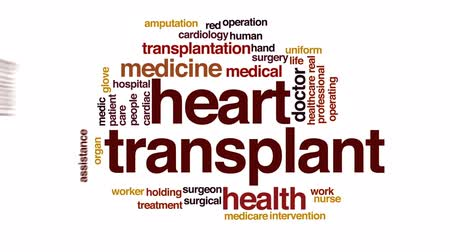 léčit : Heart transplant animated word cloud, text design animation. Dostupné videozáznamy
