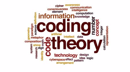 consciousness : Coding theory animated word cloud, text design animation.