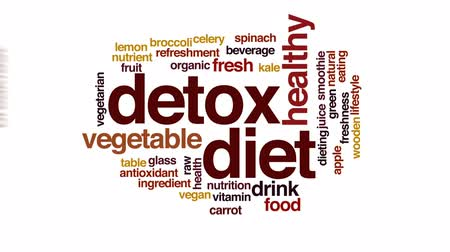 espinafre : Detox diet animated word cloud, text design animation.