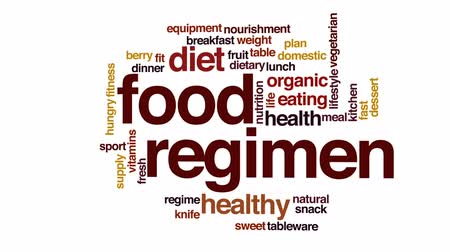 tápláló : Food regimen animated word cloud, text design animation.