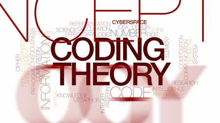 consciousness : Coding theory animated word cloud, text design animation. Kinetic typography.