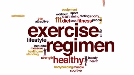 medir : Exercise regimen animated word cloud, text design animation. Stock Footage