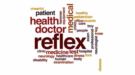 healthy office : Reflex animated word cloud, text design animation.