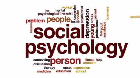 zihinsel : Social psychology animated word cloud, text design animation.