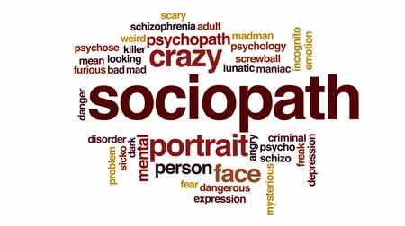 significar : Sociopath animated word cloud, text design animation.