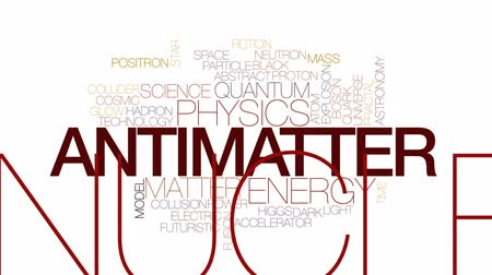 madde : Antimatter animated word cloud, text design animation. Kinetic typography. Stok Video