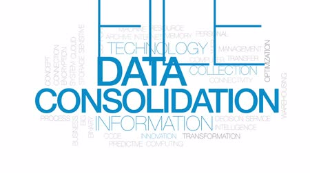 archívum : Data consolidation animated word cloud, text design animation. Kinetic typography.