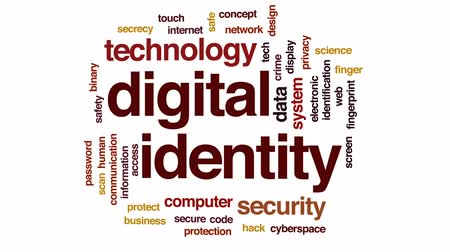 kodeks : Digital identity animated word cloud, text design animation.