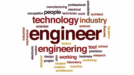 разведка : Engineer animated word cloud, text design animation.